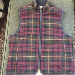 LIKE NEW LL Bean Wool Vest with Sherpa Lining!